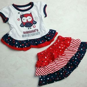Other - Patriotic America's Sweetheart Owl Outfit 0-3M